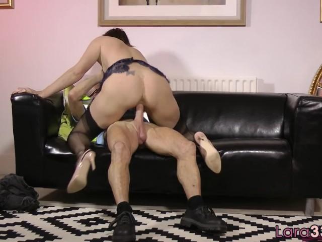 Alluring Milf Riding Seniors Cock in Stockings