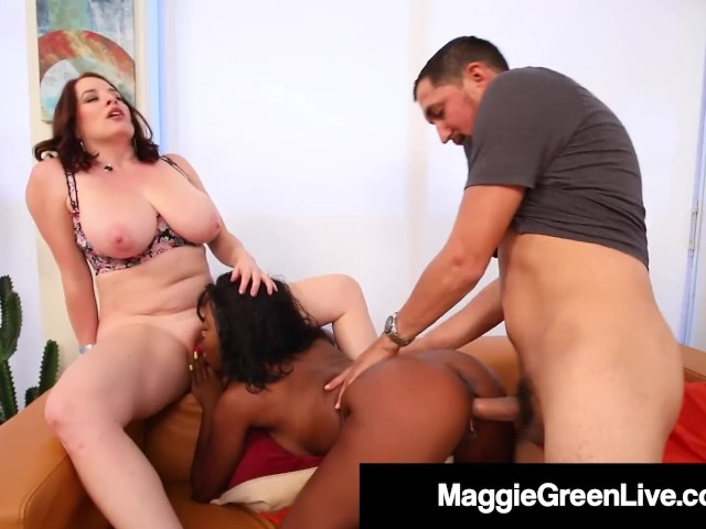 Maggie Green Shares Hubby With Black Sitter Harmonie Marquise