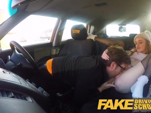 Fake Driving School Slim Hot Redhead Minx Fucks Better Then She Drives