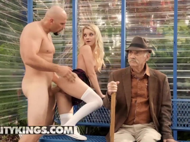 Reality Kings - Small Blonde Teens Riley Star Sucks and Fucks in Public