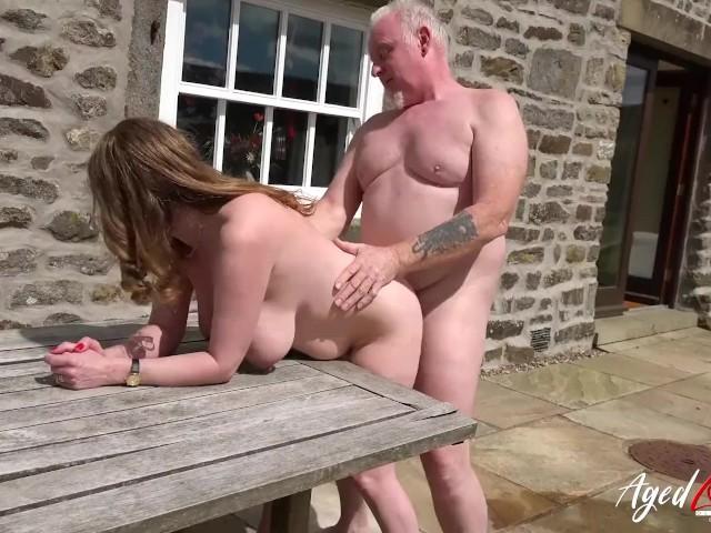 Agedlove Mature Got Fucked Hard on the Pavement