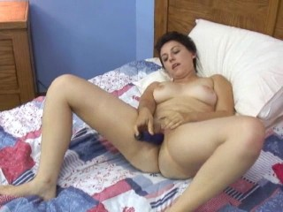 cute short haired MILF plays in all directions a knick-knack