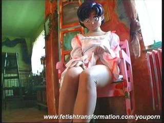 Sweet manga girl Monika object flexible