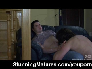 Mature lady possessions mouthful be worthwhile for cum