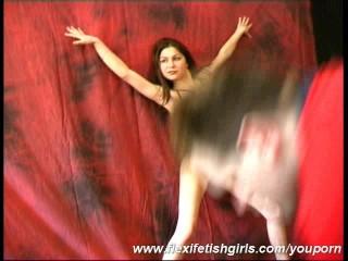 Malleable Julia posing in nylon
