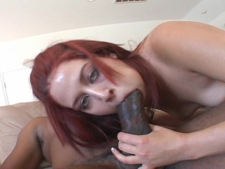 Hot redhead drives a distance be beneficial to black food and drink pt 2/3