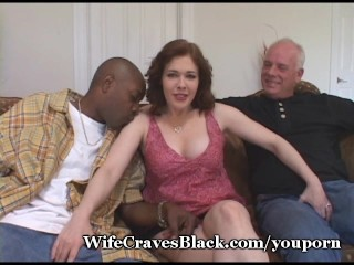 Broad in the beam Milky Juggs Fucked By Black Stud