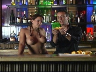 Take topless bartender who's watching anything else