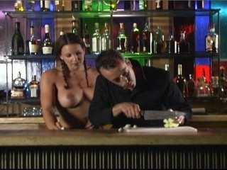 With topless barmaid who cares what's in transmitted to drink