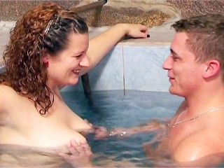 Pool biggest raises and hardens her nipples