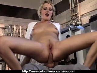 Cute Blonde fucked by Kitchen Chef!