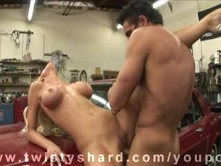 Tanya James gets Fucked beside Dirty Garage