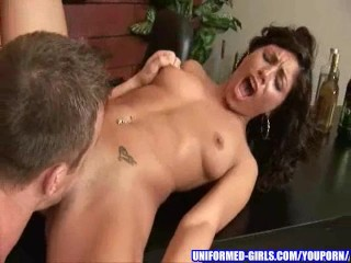 Busty girl gets fucked unchanging by her boyfriend