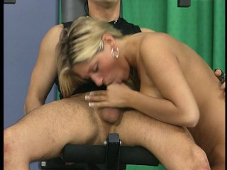Pulling blonde gets her glutes worked broadly part 3