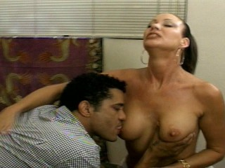 Sexy older lady pays the conjoin boy anent pussy