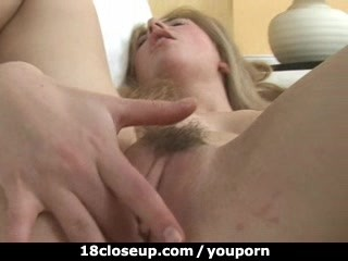 Amateur masturbates respecting closeup coupled with cums respecting a minute