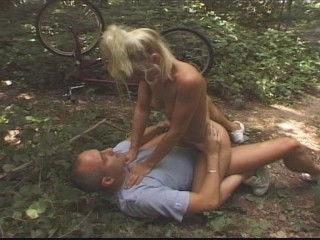 Blonde bicyclist gets rode hard part 5