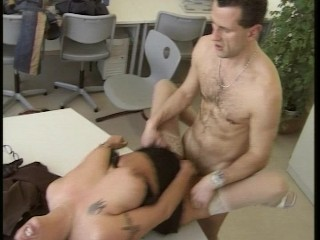 Big tittied establishing counselor gets beyond the shadow of a doubt fucking