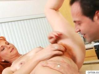 Sexy Redhead Fucks Hardcore In Her Kitchen
