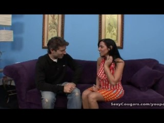 Stunning Veronica Rayne Snatches Up Young Stud
