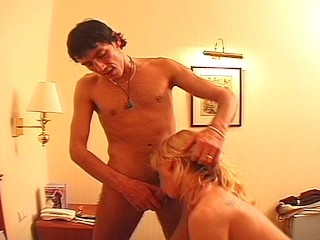 Hot blonde gets jizzed faced