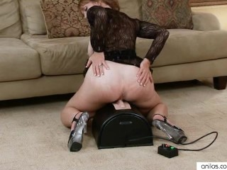 Busty Hosuewife Sybian Having it away
