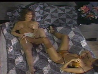 Big titty girl loves nylon limbs take her puss