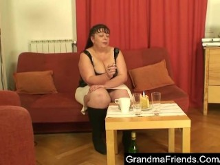 Excelent-Chubby Mature Is Double Fucked And Cumfaced