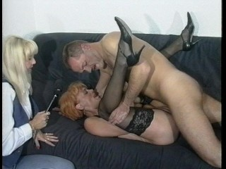 Sexy redhead gets a mouthfull