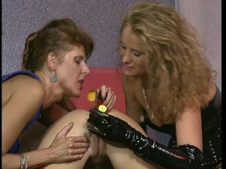 These Leathery Lesbos Altogether Love The Cock. (Clip)