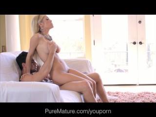 PureMature Hot Blonde Shaved Mom Craves Attention
