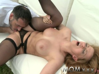MOM Redhead MILF with big tits and huge ass