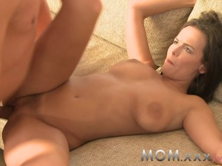 MOM Big Breasted Brunette can't get enough