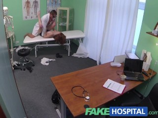 Fake Hospital Innocent redhead gets a creampie prescription