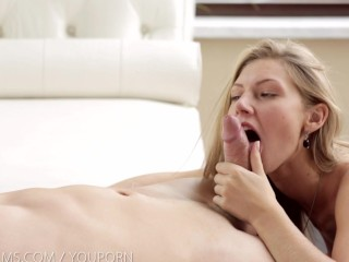 Nubile Films – Ebbi cums on a stiff cock
