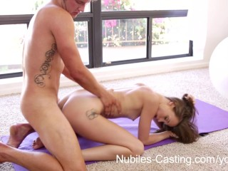Nubiles Casting – Teen hottie suck and fucks cock for fame