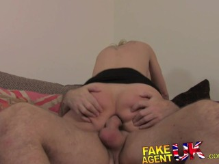 FakeAgentUK Filthy czech bird does anal and rimming on casting couch