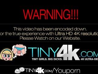 4K HD - Tiny4K Tiny blonde teen fucked by huge cock