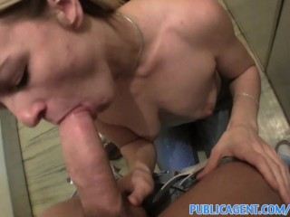 PublicAgent Lonely and sucking cock for rent money