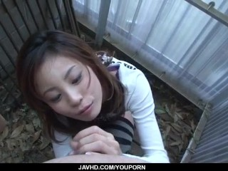 Busty,Natsumi Mitsu, blows cock in hot POV manners