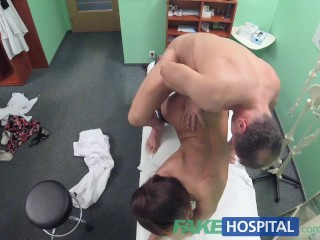 FakeHospital Dose of double cum cures sexy patients tummy ache