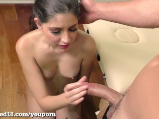 Cute Teen Is Exploited In Her First Hardcore Scene!
