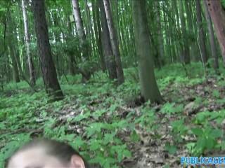 PublicAgent Innocent looking teen fucking in the woods