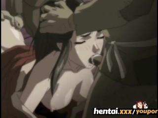 Gangbang v animovanom sex videu