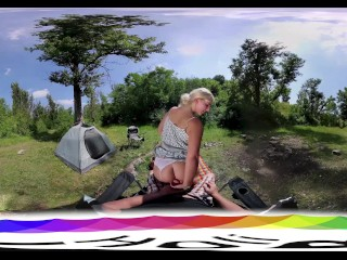 HoliVR 360VR _ Busty Hot Blonde Fucked and Jizzed Outdoor