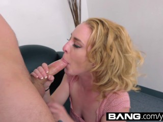 BANG Casting: Amateur Bonnie Grey Gaping Pussy Cum Slut