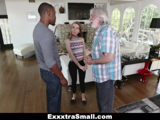 Exxtrasmall tiny teen alina west sucks huge cock to pay de - 3 3