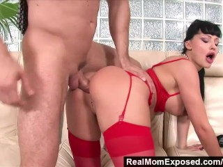 RealMomExposed – Horny secretary loves a cock up her ass