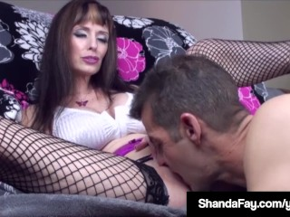 Horny Housewife Shanda Fay Grinds & Cums On Her Husband's Face!