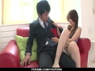 Rosa Kawashima ends with sperm in mouth after great BJ - More at Slurpjp.com